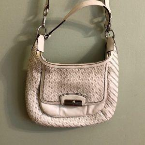 White coach shoulder bag